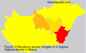 Surname Mundrucz in Hungary