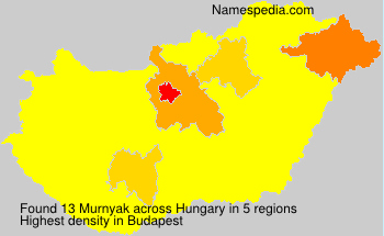 Surname Murnyak in Hungary