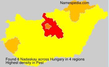 Surname Nadaskay in Hungary