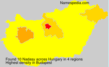 Surname Nadasy in Hungary
