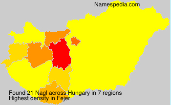 Surname Nagl in Hungary