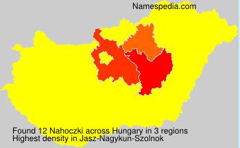 Familiennamen Nahoczki - Hungary