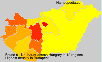 Surname Neubauer in Hungary
