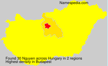 Surname Nguyen in Hungary