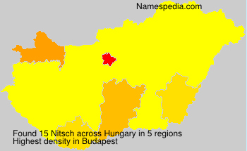 Surname Nitsch in Hungary