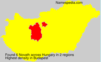 Surname Novath in Hungary