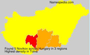 Surname Novikov in Hungary