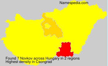 Surname Novkov in Hungary