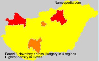 Familiennamen Novothny - Hungary