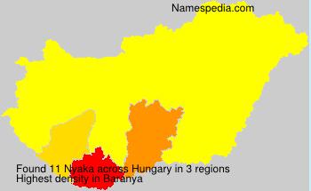 Surname Nyaka in Hungary