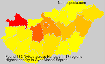 Surname Nyikos in Hungary