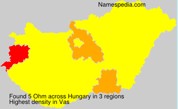 Surname Ohm in Hungary