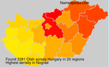 Surname Olah in Hungary