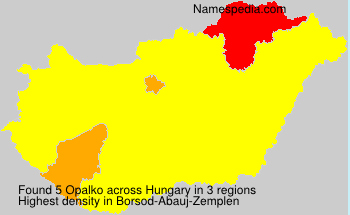 Surname Opalko in Hungary