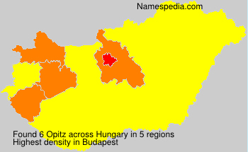Surname Opitz in Hungary