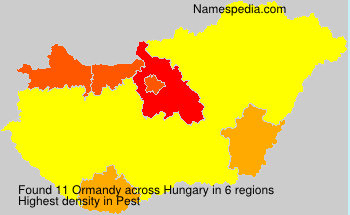 Surname Ormandy in Hungary