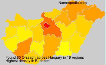 Surname Orszagh in Hungary