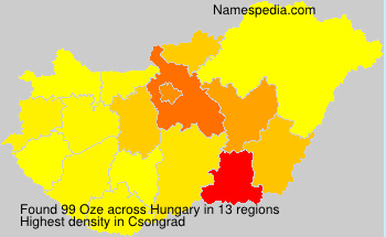 Surname Oze in Hungary