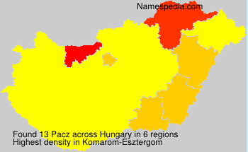 Surname Pacz in Hungary