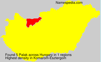 Surname Palak in Hungary
