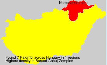 Familiennamen Palombi - Hungary