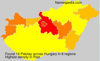 Familiennamen Palotay - Hungary