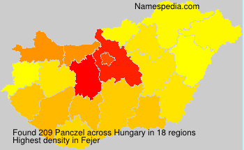 Surname Panczel in Hungary