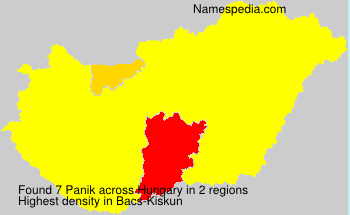 Surname Panik in Hungary