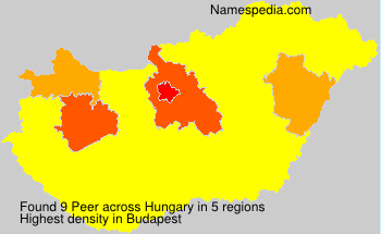 Surname Peer in Hungary