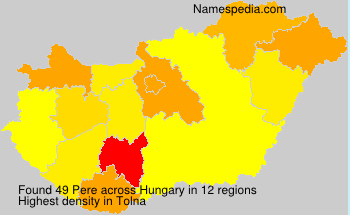 Surname Pere in Hungary