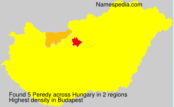 Surname Peredy in Hungary