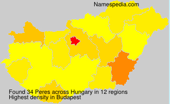 Surname Peres in Hungary