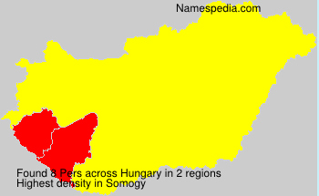 Surname Pers in Hungary