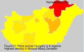 Familiennamen Petra - Hungary