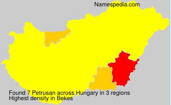 Familiennamen Petrusan - Hungary