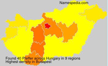 Surname Pfeffer in Hungary