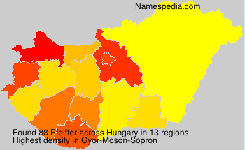 Surname Pfeiffer in Hungary
