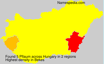 Surname Pflaum in Hungary
