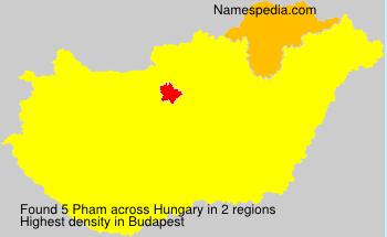 Familiennamen Pham - Hungary