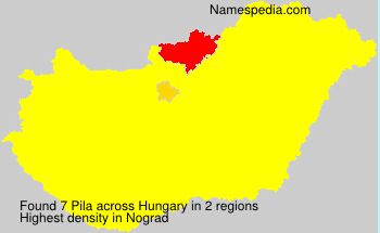 Surname Pila in Hungary