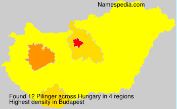 Surname Pilinger in Hungary