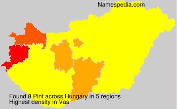 Familiennamen Pint - Hungary