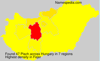 Surname Pisch in Hungary