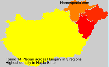 Surname Pleban in Hungary