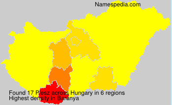 Surname Plesz in Hungary