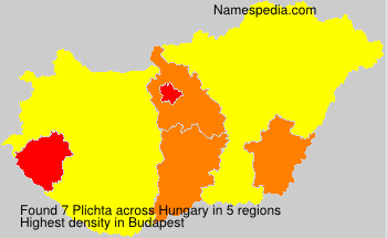 Surname Plichta in Hungary