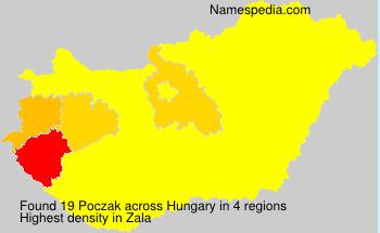 Surname Poczak in Hungary