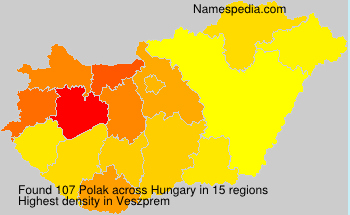 Surname Polak in Hungary