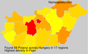 Surname Polanyi in Hungary