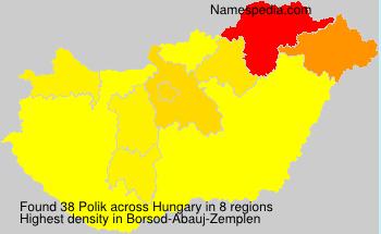 Familiennamen Polik - Hungary